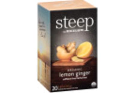 lemon ginger herbal tea - case of 6 boxes - total of 120 teabags