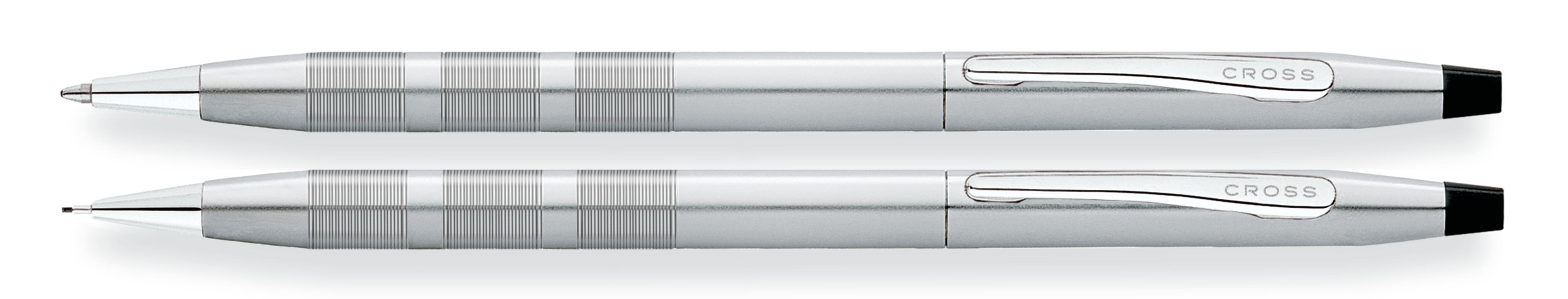 Classic Century Satin Chrome Ballpoint Pen & 0.7MM Pencil Set