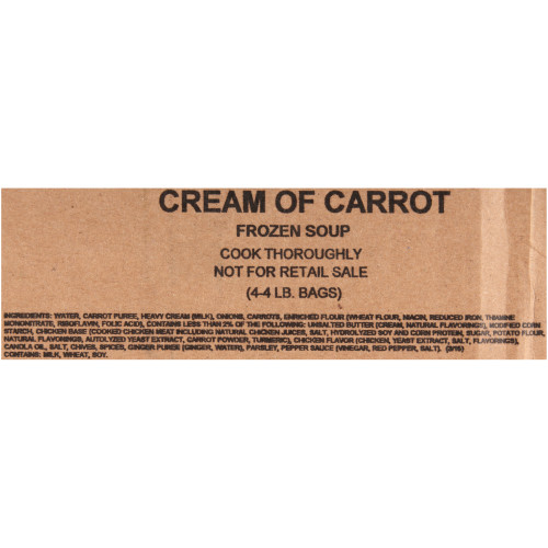 HEINZ TRUESOUPS Cream of Carrot Soup, 4 lb. Bag (Pack of 4)