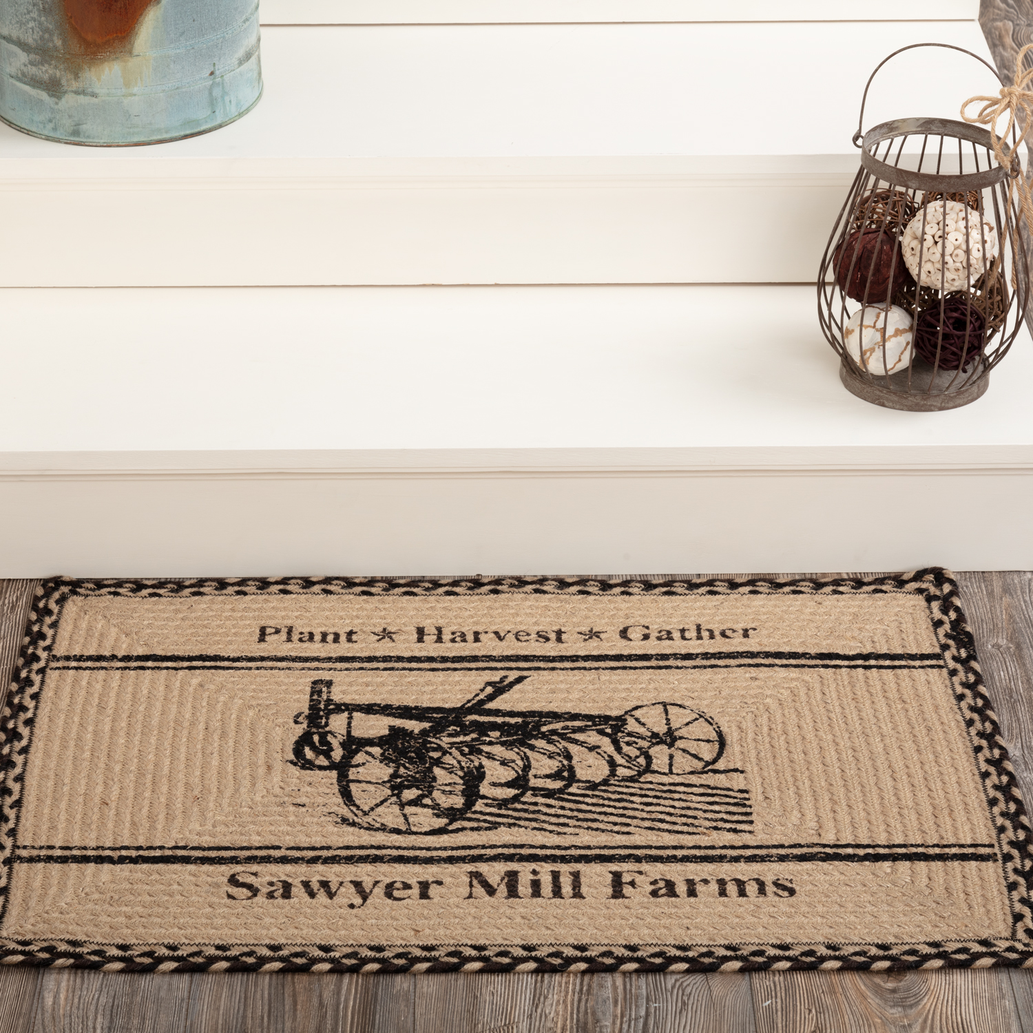 Sawyer Mill Charcoal Plow Jute Rug Rect 20x30
