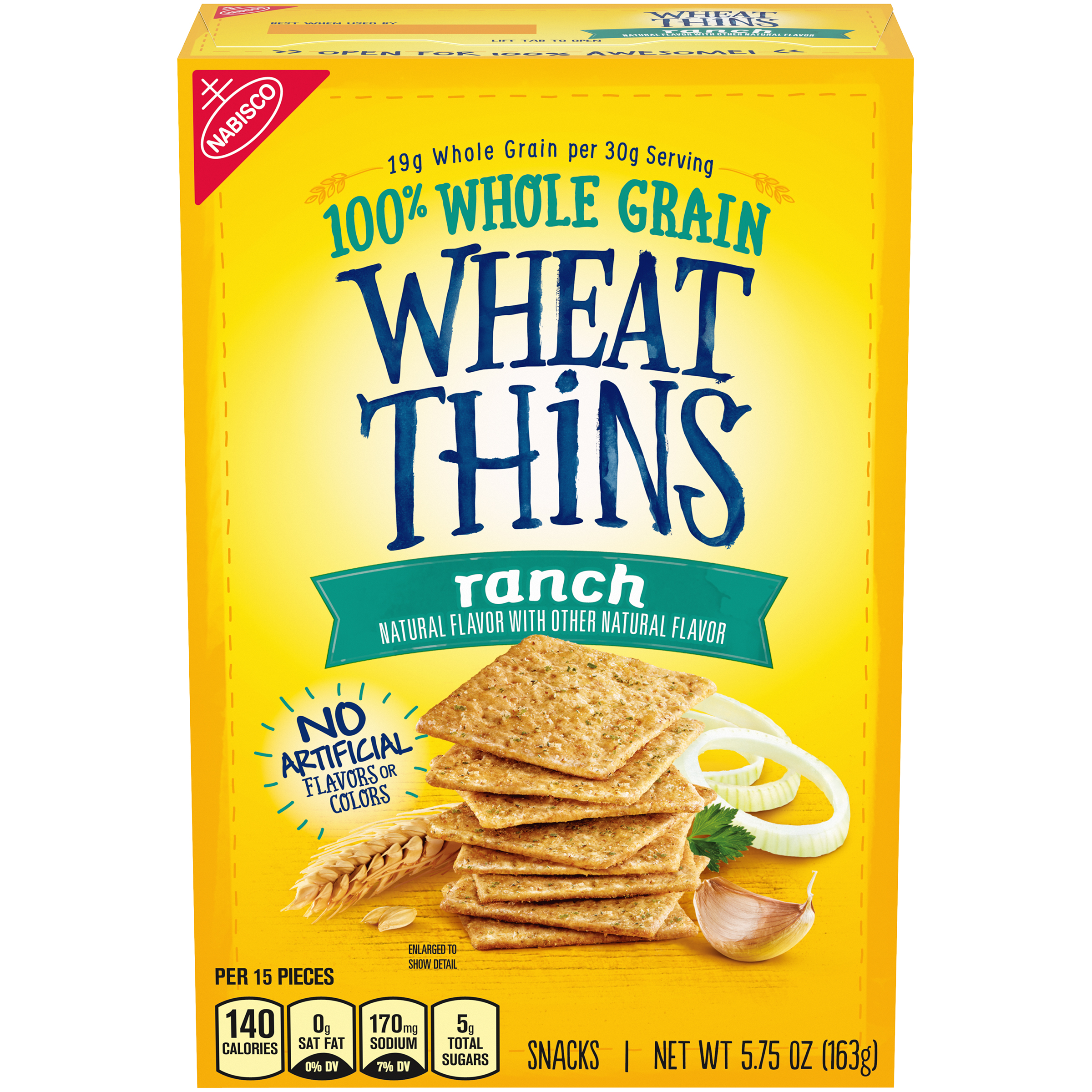 WHEAT THINS Ranch Crackers-Convenience Pack 5.75 Oz
