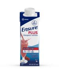 Ensure Plus Strawberry Flavor 8 oz. Carton Ready to Use, 64907 - EACH