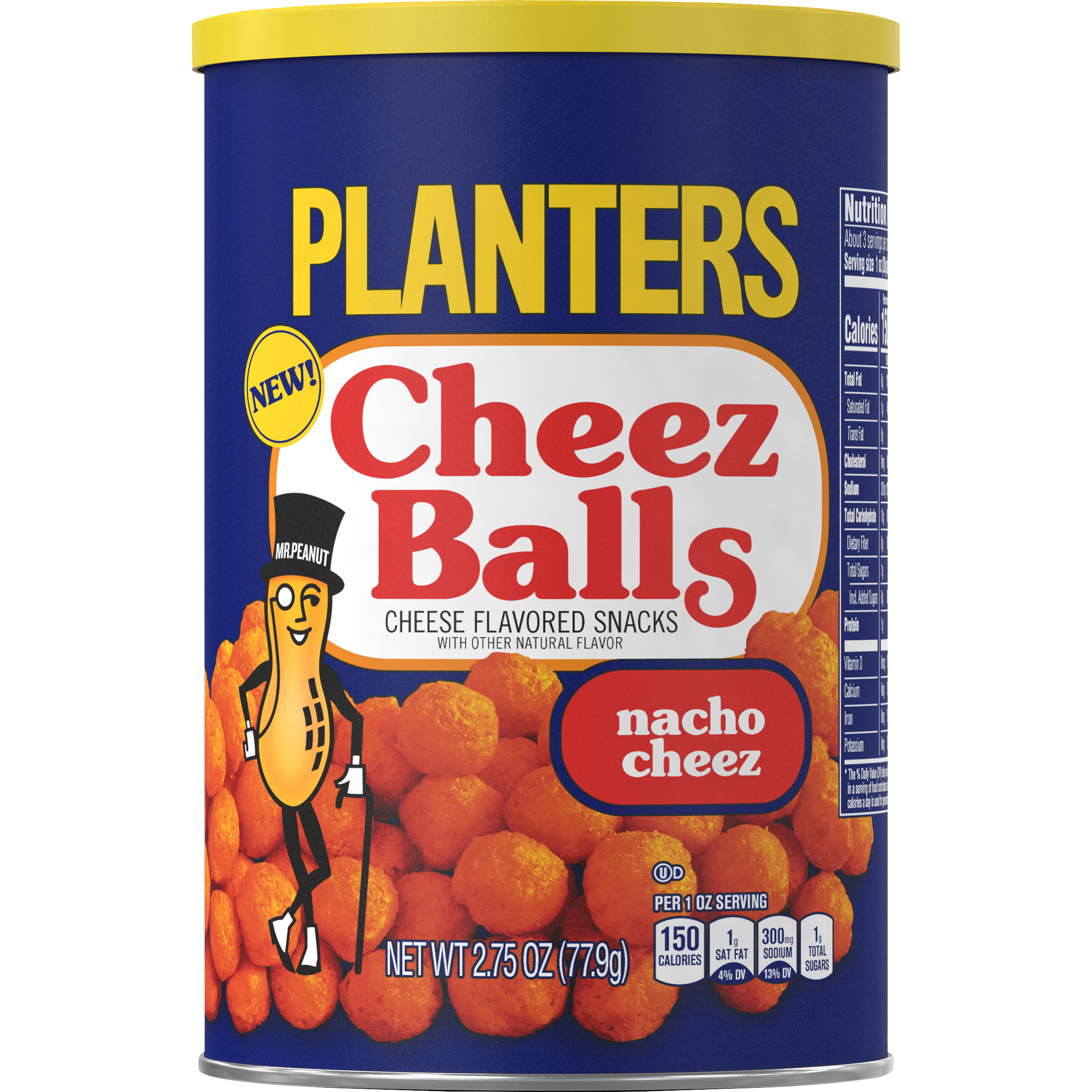 Planters Nacho Cheez Balls, 2.75oz Canister image