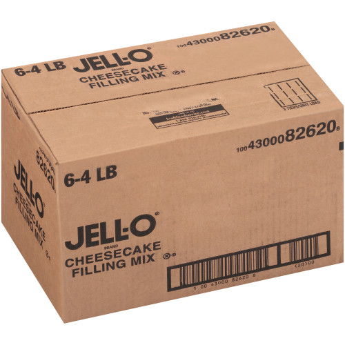 JELL-O Cheesecake Filling Mix, 4 lb. Pouch (Pack of 6)