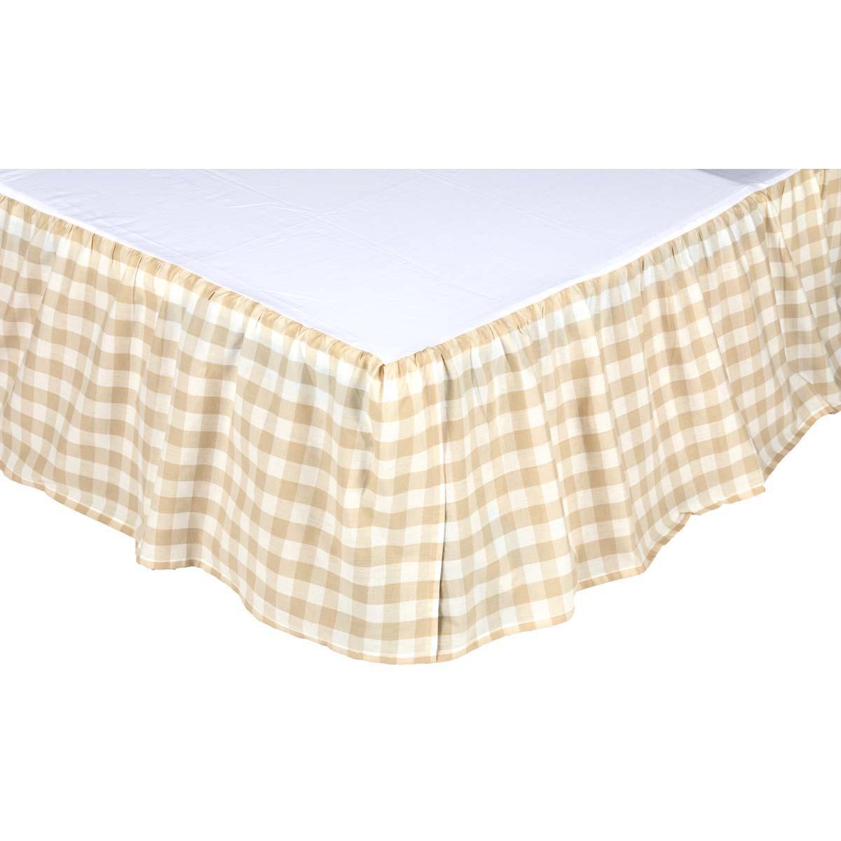 Annie Buffalo Tan Check King Bed Skirt 78x80x16