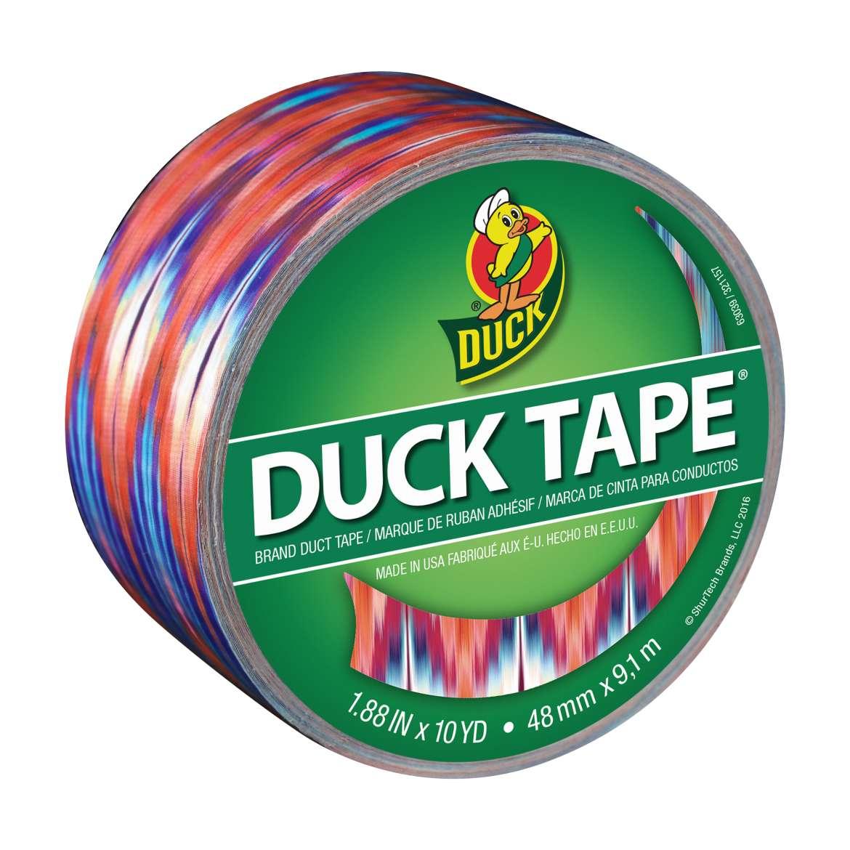 Printed Duck Tape® Brand Duct Tape - Ikat Tie Dye, 1.88 in. x 10 yd. Image