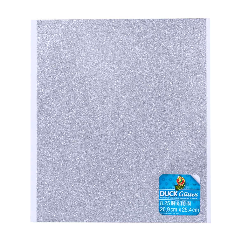 Duck Glitter® Sheets - Silver, 8.25 in x 10 in Image