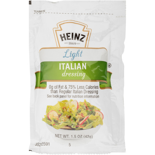 HEINZ Single Serve Light Italian Salad Dressing, 1.5 oz. Packets (Pack of 60)