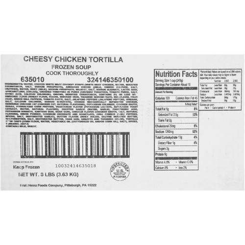 HEINZ CHEF FRANCISCO Cheesy Chicken Tortilla Soup, 8 lb. Bag (Pack of 6)