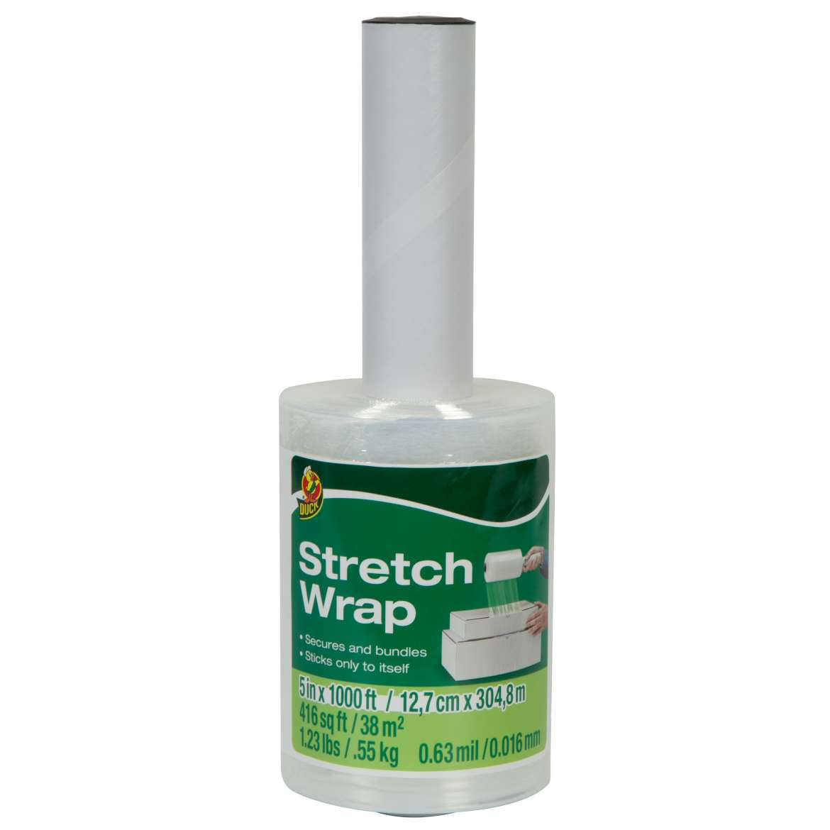 Duck® Brand Stretch Wrap Film - Clear, 5 in. x 1,000 ft. Image