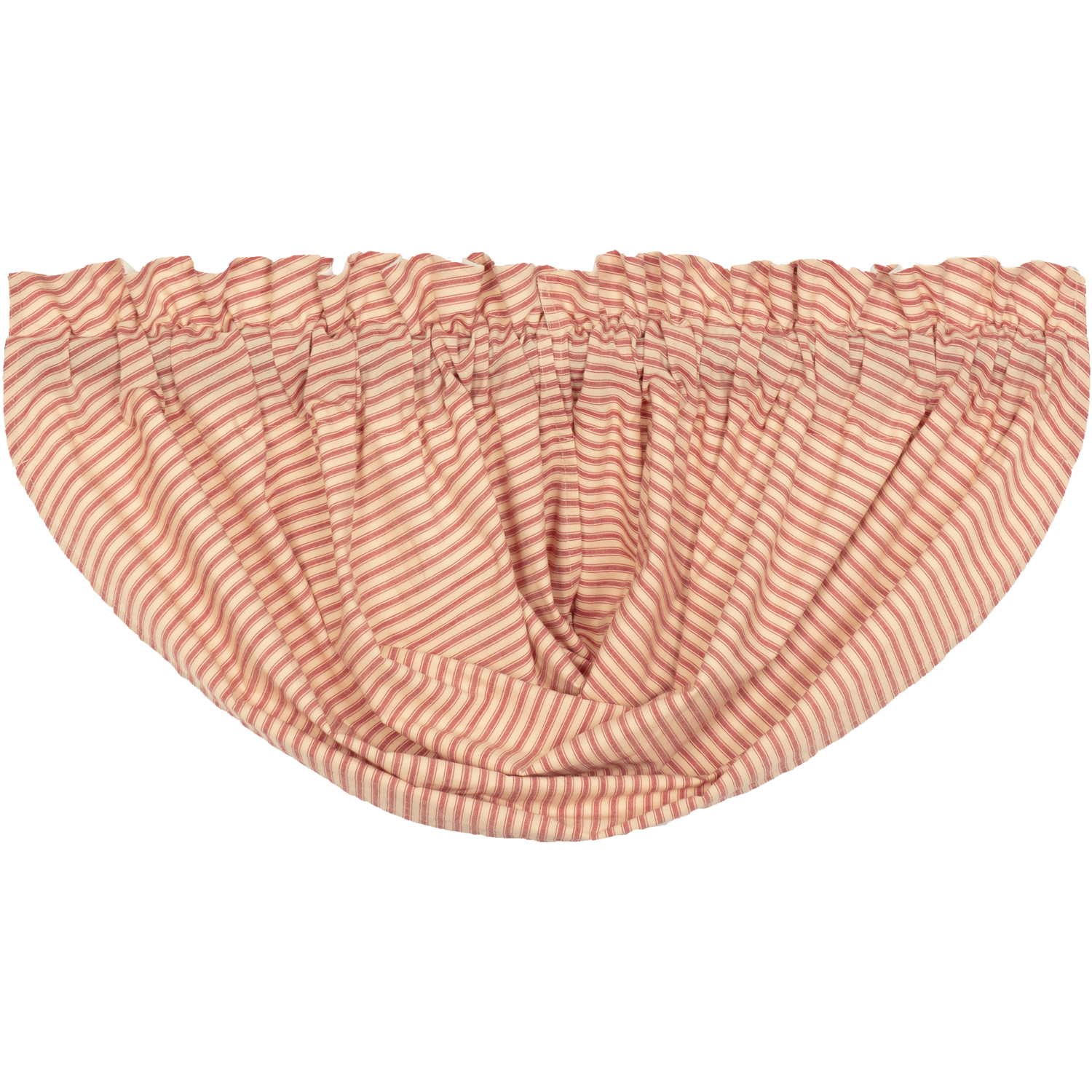 Sawyer Mill Red Ticking Stripe Balloon Valance 15x60