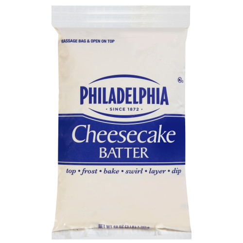 PHILADELPHIA Cheesecake Batter, 3 lb. Pouch (Pack of 4)