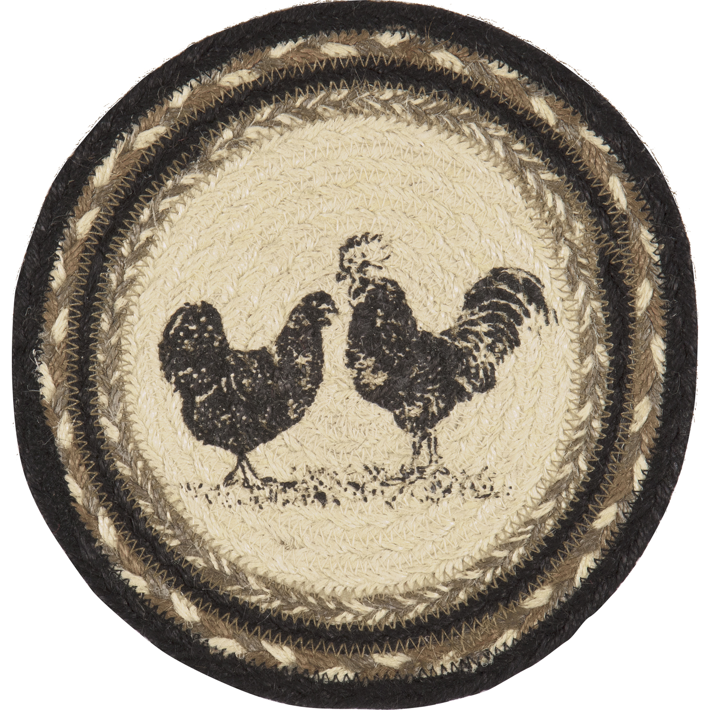 Sawyer Mill Charcoal Poultry Jute Trivet 8