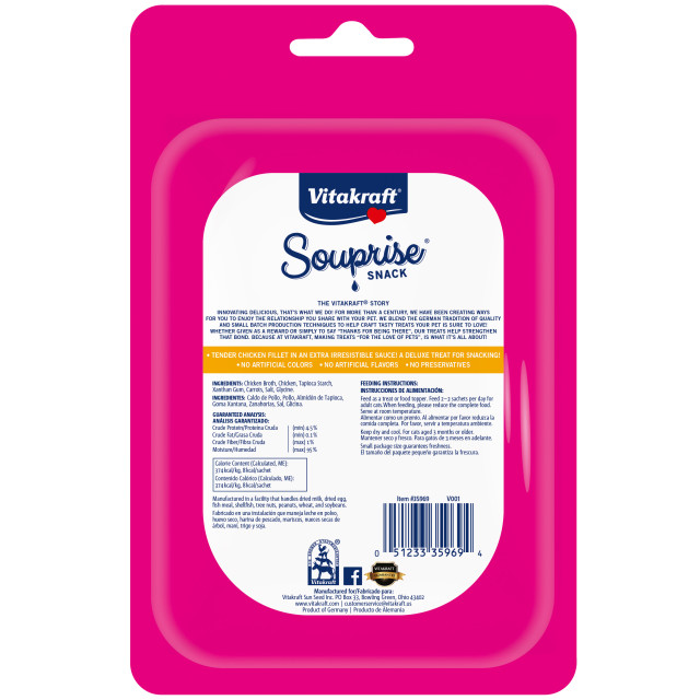 Back-Image showing Souprise® Snack Chicken, 4 Pack
