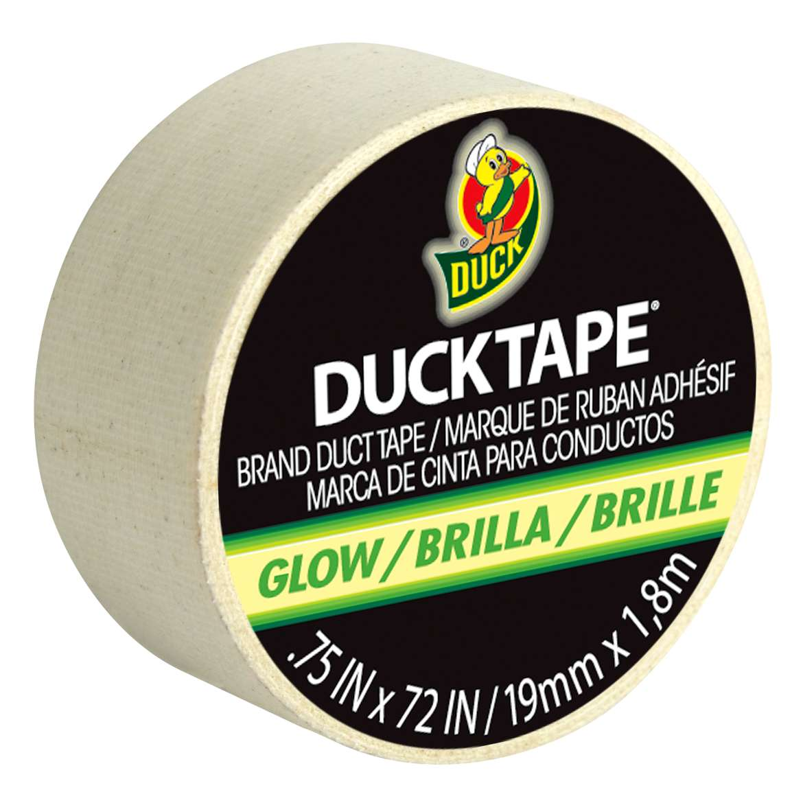 Glow-in-the-Dark Ducklings® Mini Duck Tape® Rolls - Solid Glow, .75 in. x 72 in. Image