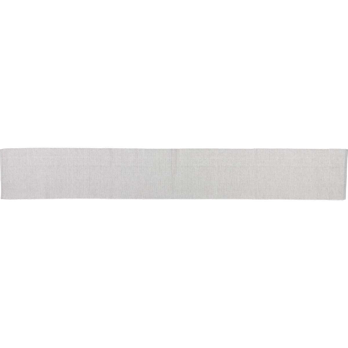 Ashton Grey Ribbed Runner 13x90