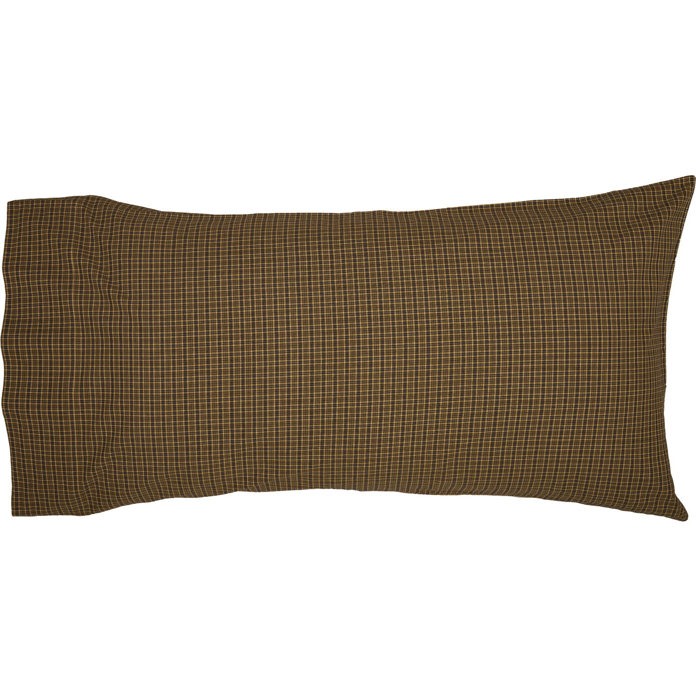 Tea Cabin Green Plaid King Pillow Case Set of 2 21x40