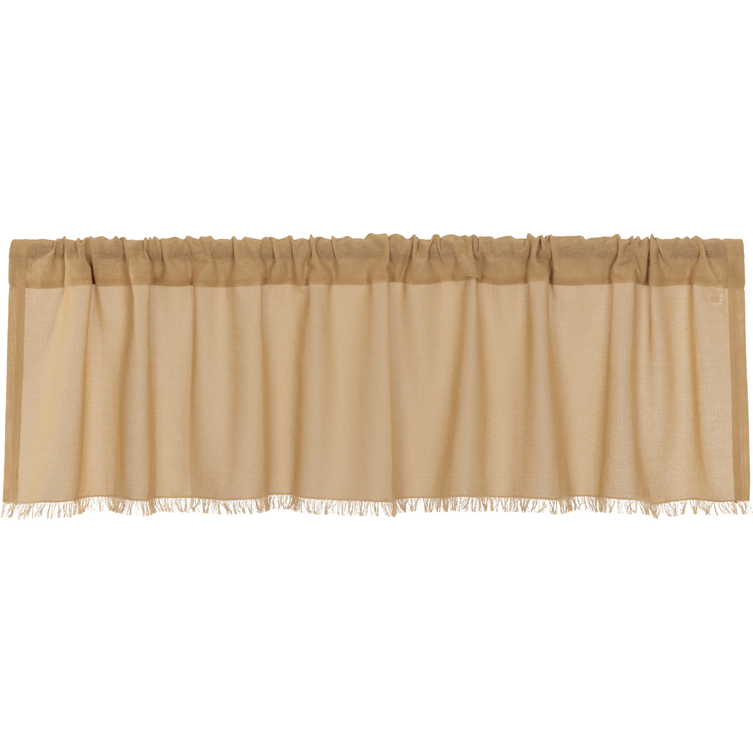 Tobacco Cloth Khaki Valance Fringed 16x60