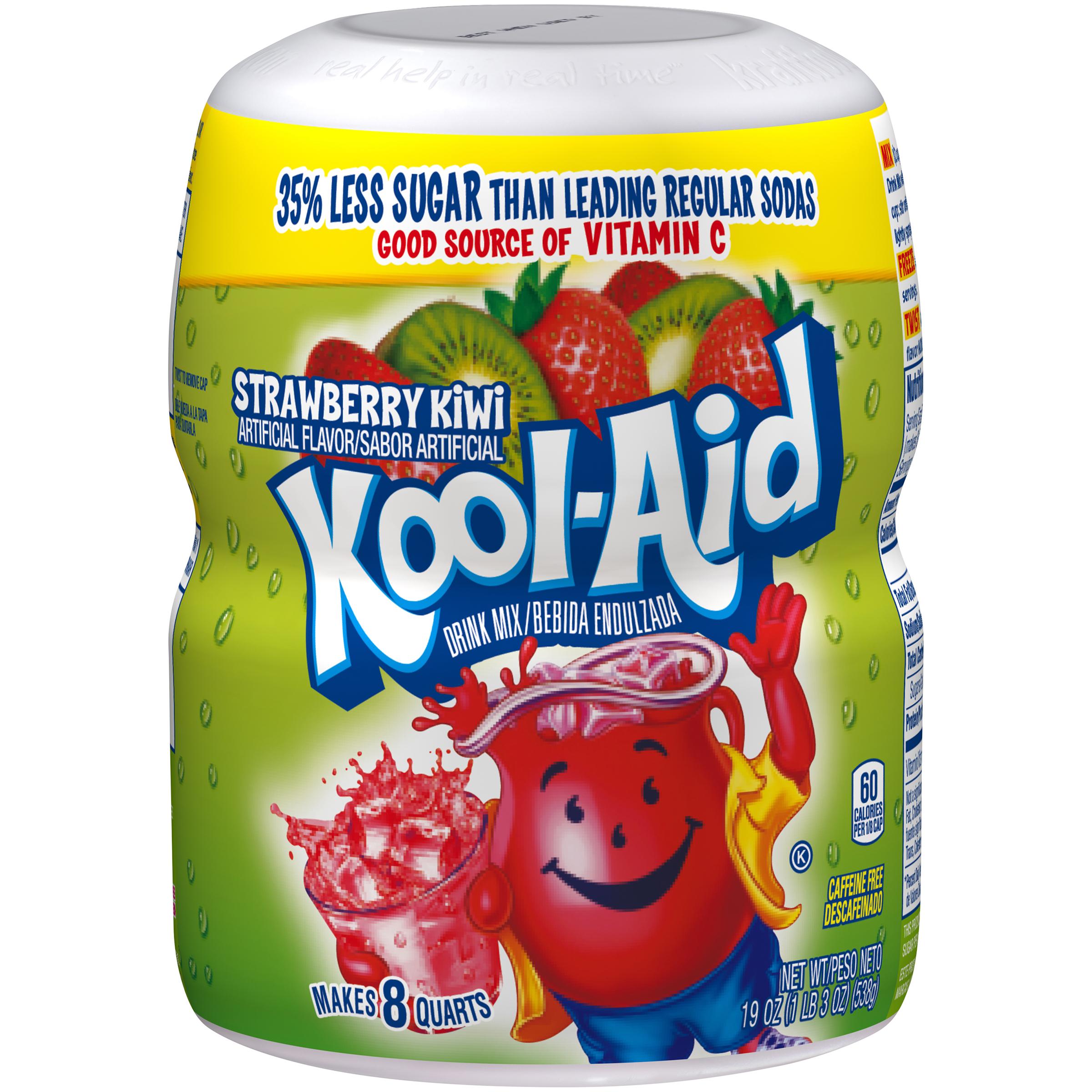 Kool-Aid Strawberry Kiwi Drink Mix 19 oz. Canister image