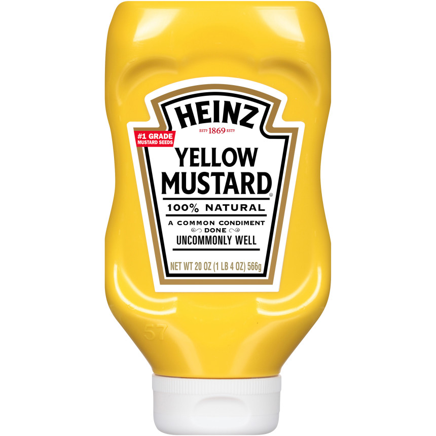 Heinz Yellow Mustard, 20 oz Bottle image