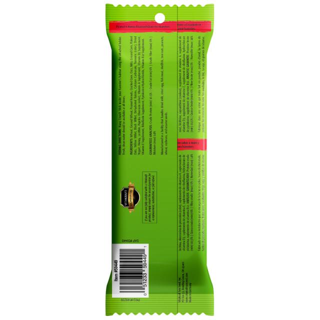 Back-Image showing Crunch Sticks Peanut & Honey Flavored Glaze