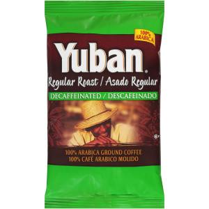 YUBAN Regular Roast & Ground Decaf Coffee, 2 oz. Bag (Pack of 128) image