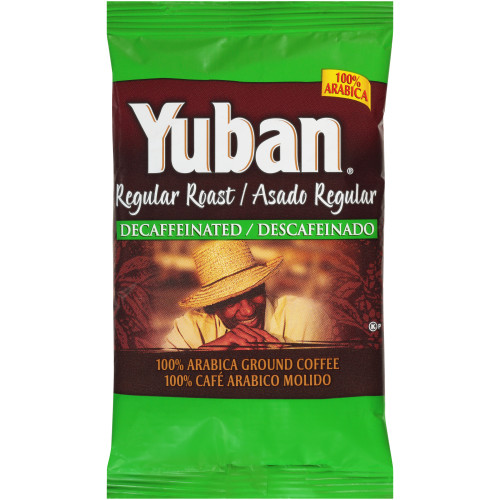 YUBAN Regular Roast & Ground Decaf Coffee, 2 oz. Bag (Pack of 128)
