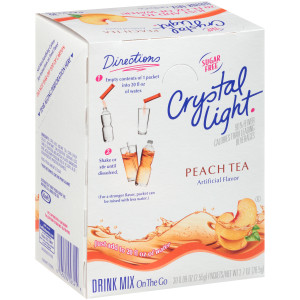 CRYSTAL LIGHT Single Serve Sugar-Free Peach Tea On-the-Go Mix, 30-0.9 oz. Packets (Pack of 4 Boxes) image