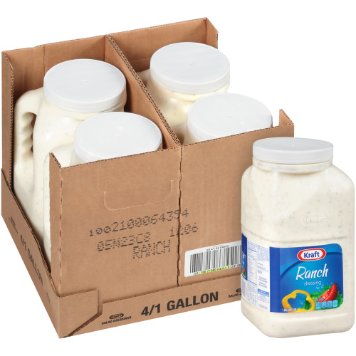KRAFT Bulk Ranch Salad Dressing, 1 gal. Jug (Pack of 4)