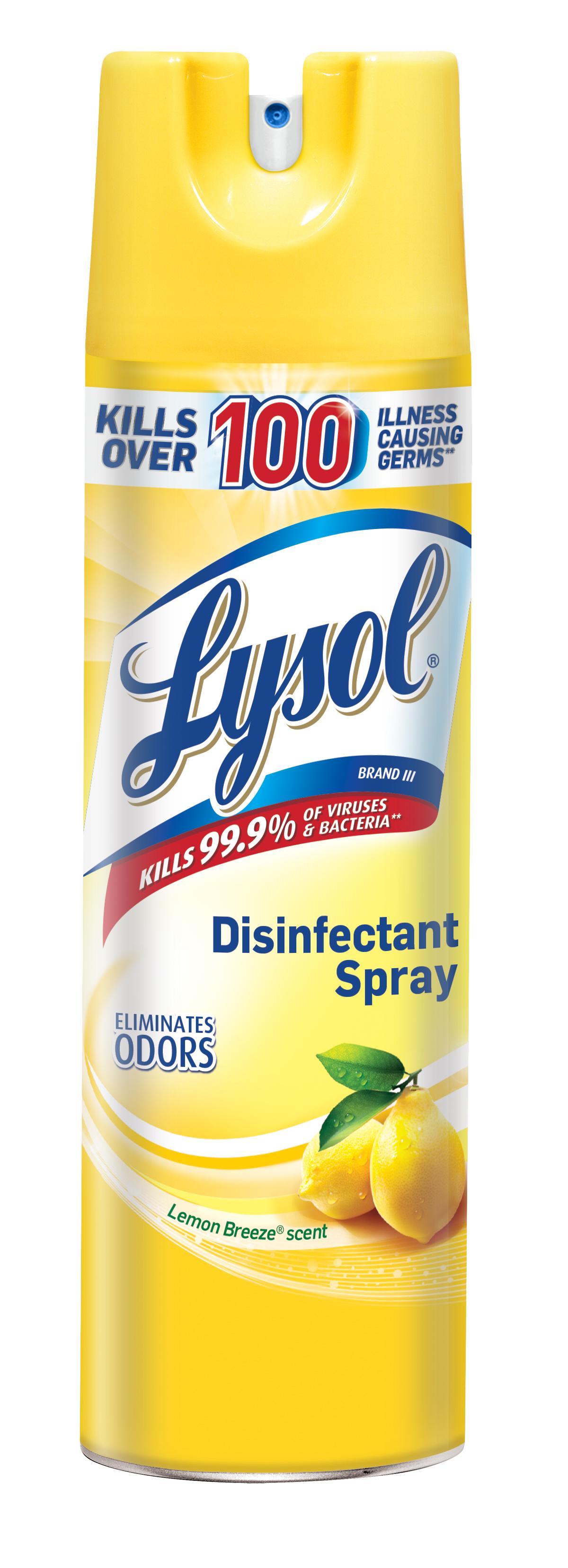 Lysol Disinfectant Spray, Lemon Breeze, 19oz