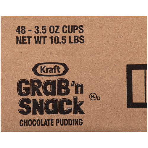 KRAFT GRAB 'N SNACK Chocolate Pudding, 3.5 oz. Cups (4/12 Count)