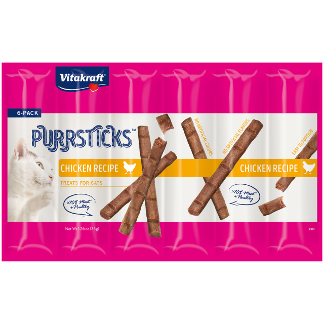 Product-Image showing PurrSticks™, Chicken Recipe, 6 Pack