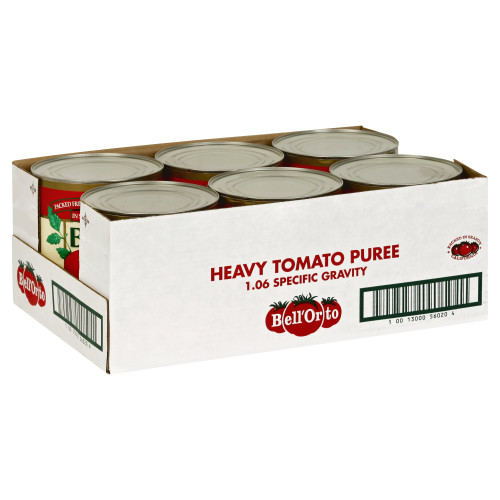 BELL ORTO Heavy Tomato Puree, 107 oz. Can (Pack of 6)