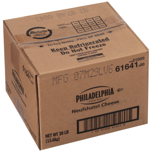 PHILADELPHIA Neufchatel Cheese, 30 lb. Carton (Pack of 1)