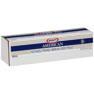 KRAFT American White Cheese, 5 lb. Loaf (Pack of 4) image