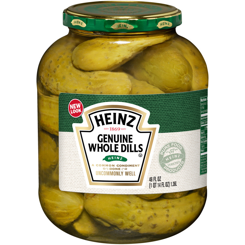 Heinz Premium Genuine Dills Pickles 46 Oz Jar