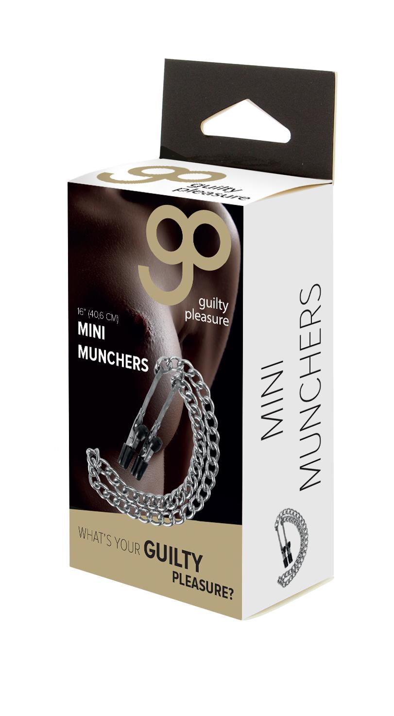 Guilty Pleasure - Mini Munchers Nipple Clamps - Silver