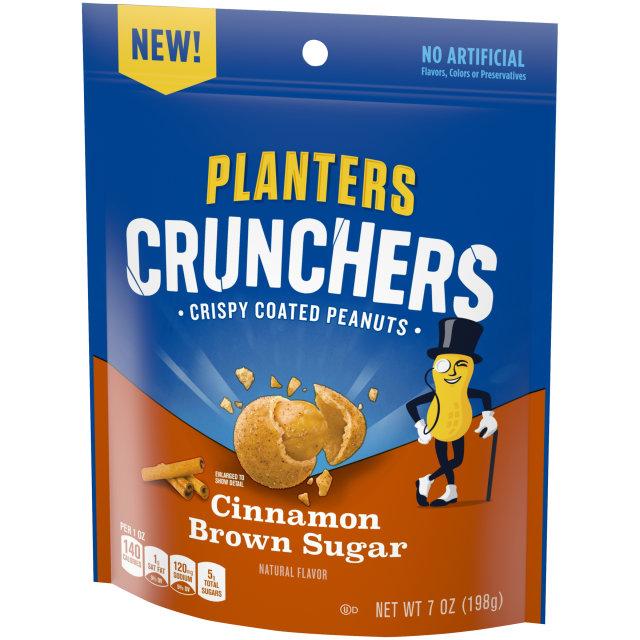 Planters Crunchers Snack Nuts Cinnamon Brown Sugar 7 oz Bag