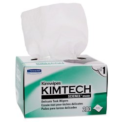 Kimwipes Delicate Task Wipe Light Duty White NonSterile 1 Ply Tissue 4-2/5 X 8-2/5 Inch Disposable, 34155 - Pack of 280