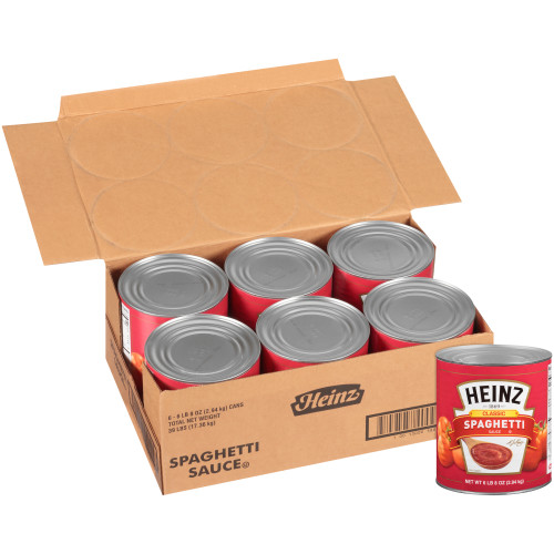 HEINZ Classic Spaghetti Sauce, 104 oz. Can (Pack of 6)