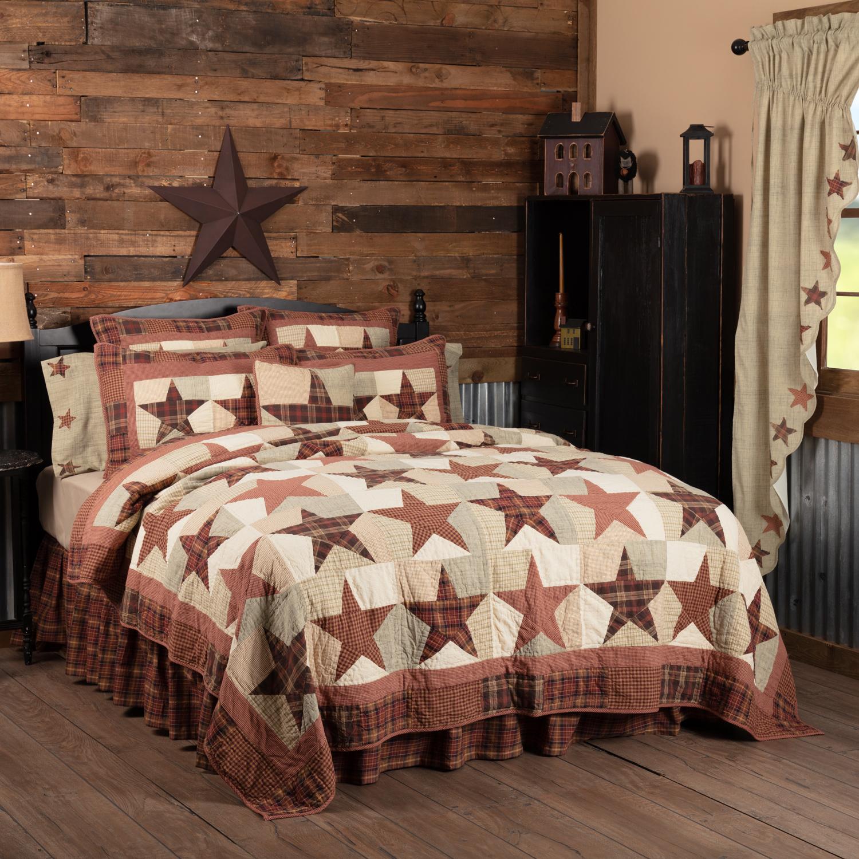 Abilene Star King Quilt 110Wx97L