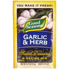Good Seasons Garlic & Herb Salad Dressing & Recipe Mix 0.75 oz Envelope