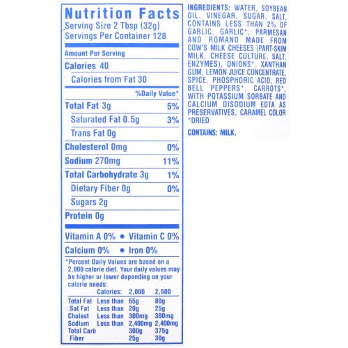 KRAFT Bulk Reduced Fat Italian Salad Dressing, 1 gal. Jug (Pack of 4)