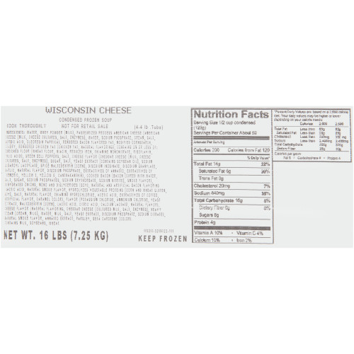 HEINZ CHEF FRANCISCO Wisconsin Cheese Soup, 4 lb. Tub (Pack of 4)