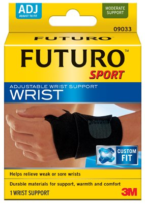 3M Futuro Sport Wrist Support, Neoprene Left or Right Hand One Size Fits Most, 09033EN - Case of 12
