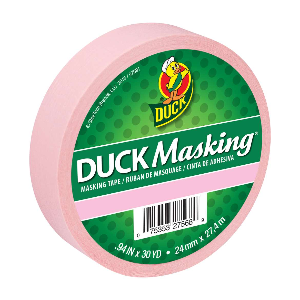 Duck Masking® Color Masking Tape - Pink, .94 in. x 30 yd. Image