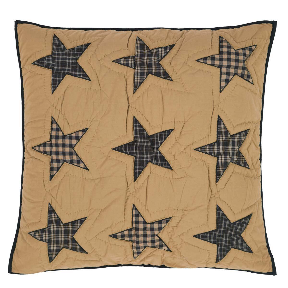 Teton Star Quilted Euro Sham 26x26