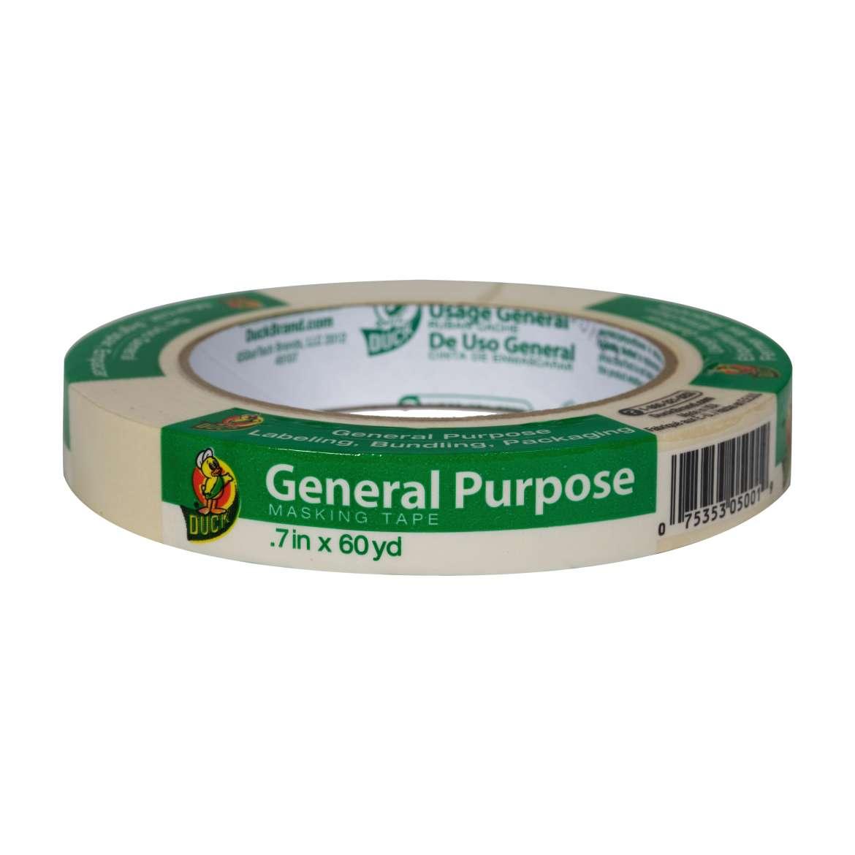 Duck® Brand General Purpose Masking Tape - Beige, .7 in. x 60 yd. Image