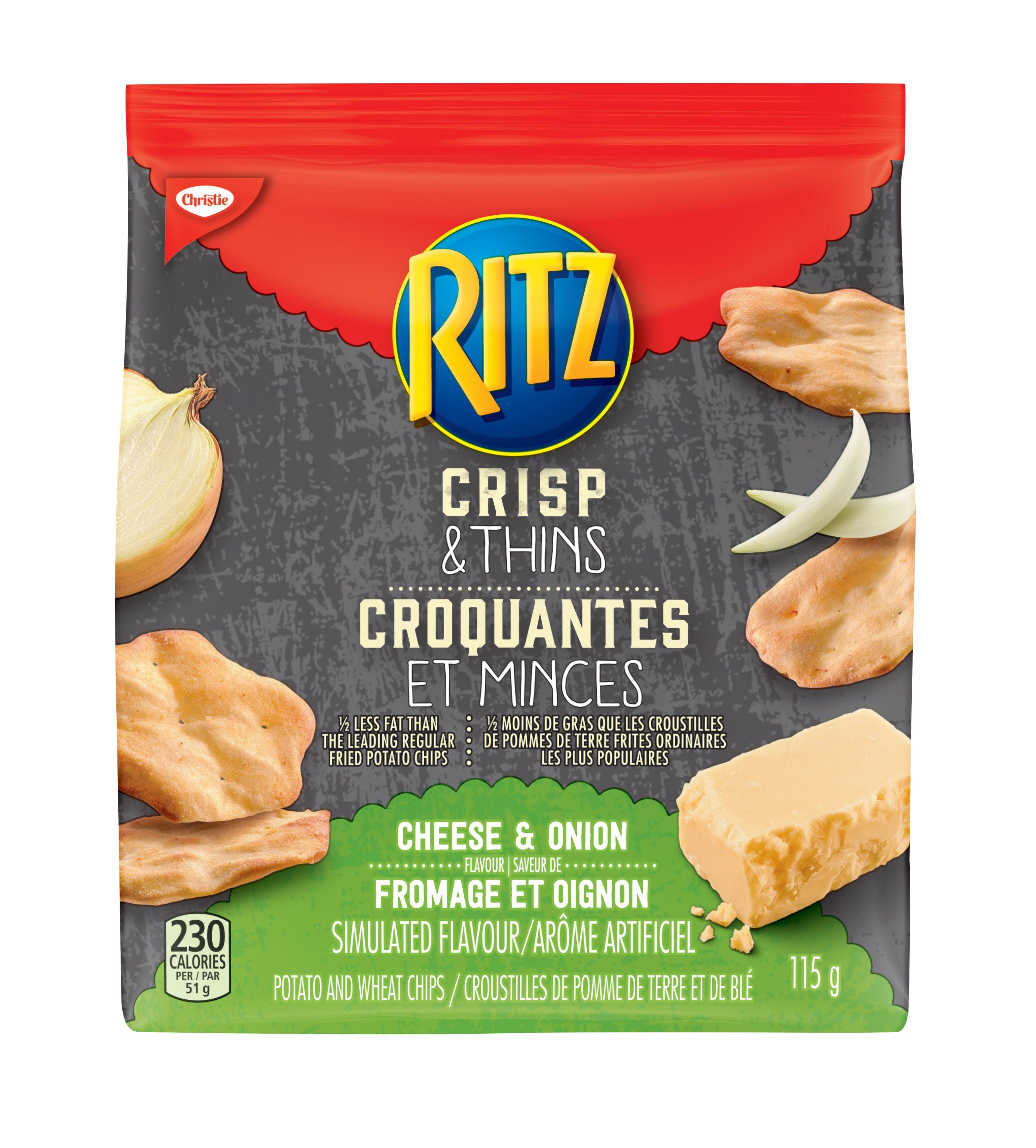 Ritz Crisp & Thin Cheese And Onion Crackers 115 G