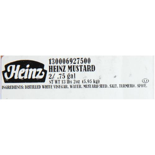 HEINZ Yellow Mustard Dispenser Pack, 0.75 gal. (Pack of 2)